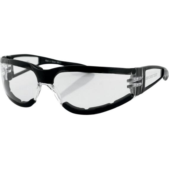 Bobster Shield II Sunglasses - Gloss Black - Clear