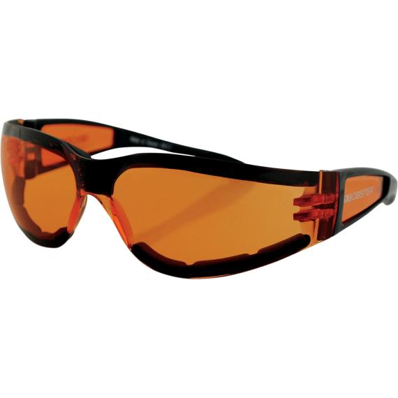 Bobster Shield II Sunglasses - Gloss Black - Amber