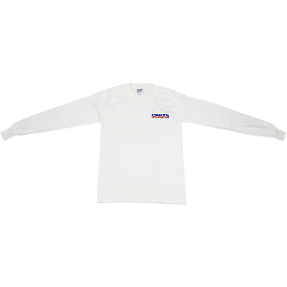 Parts Unlimited Long Sleeve T-Shirt - White -  Small
