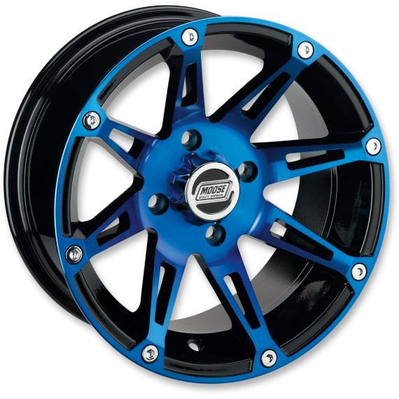 Moose Racing Wheel - 387BU - 14X7 - 4/136 - 4+3