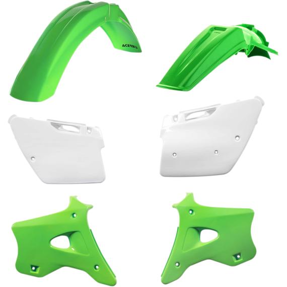Acerbis Plastic Body Kit - OE '98 Green/White - KX