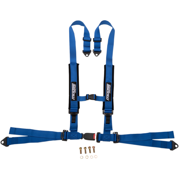 Moose Racing Seat Harness - 4 Point - 2x2 - Blue