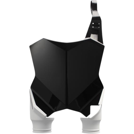 Acerbis Raptor Number Plate - Black/White - KXF