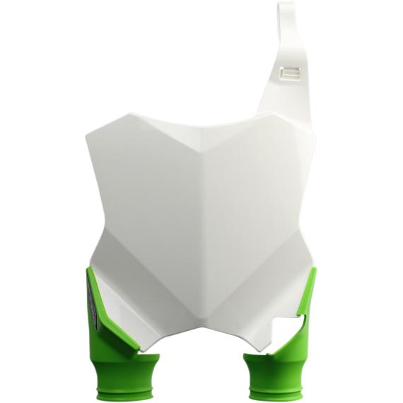 Acerbis Raptor Number Plate - White/Green - KXF