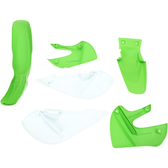 Acerbis Plastic Body Kit - OE '05 Green/White - KLX/DRZ