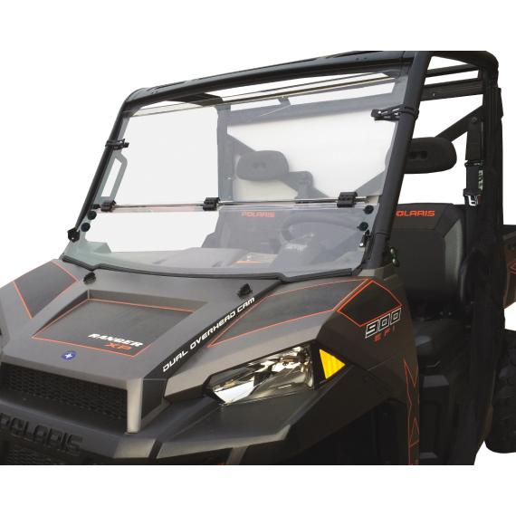Moose Racing Full Folding Windshield - Hardcoated - Polaris