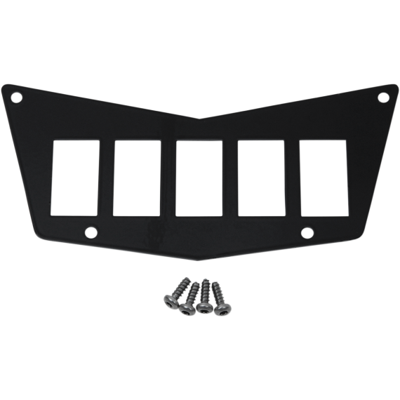 Moose Racing Dash Plate - Black - 5 Switch - RZR