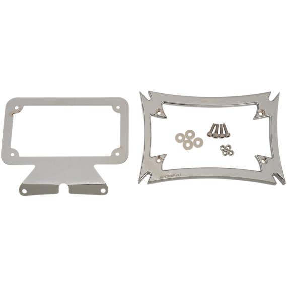 Motherwell Maltese License Plate Frame with Bracket - Chrome