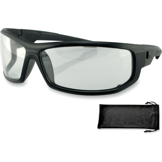 Bobster AXL Sunglasses - Gloss Black - Clear