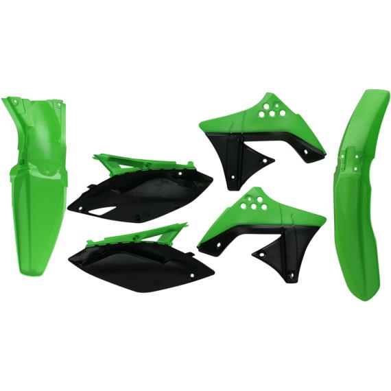 Acerbis Plastic Body Kit - OE '09 Green/Black - KX250F