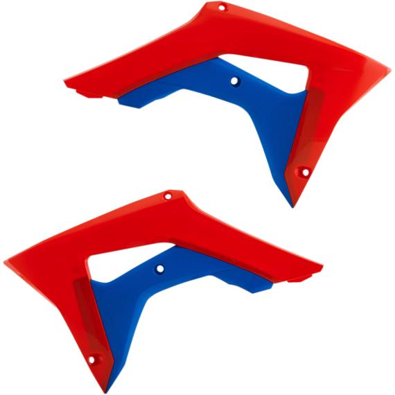 Acerbis Radiator Shrouds - CRF450R - Red/Blue