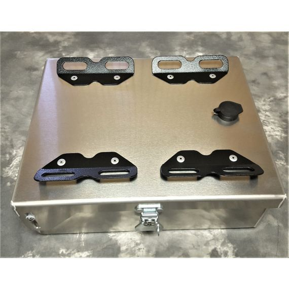 "Happy Trails Products Aluminum Top Box 8 Liters - 10""x12.5""x4"" NC"
