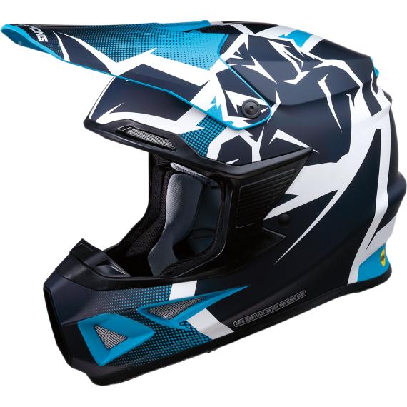 Moose Racing F.I. Agroid Helmet - MIPS - Navy/Light Blue - Large