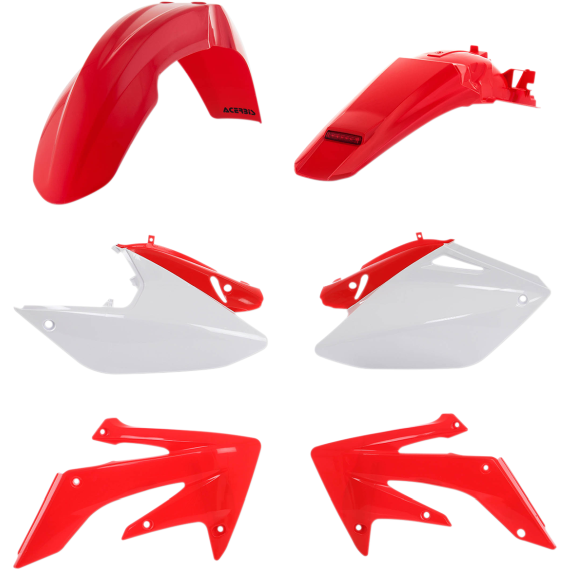Acerbis Standard Replacement Plastic Body Kit - '08 OE Red/White