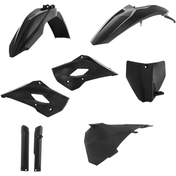 Acerbis Full Replacement Plastic Kit with Lower Airbox Cover - Black