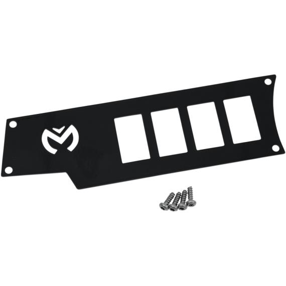 Moose Racing Dash Plate - Left - Black - RZR