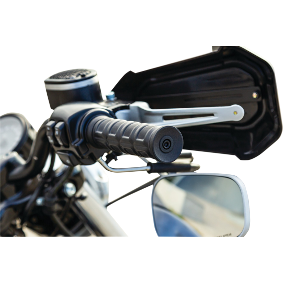 Kuryakyn Black Dillinger Grips for Dual Cable