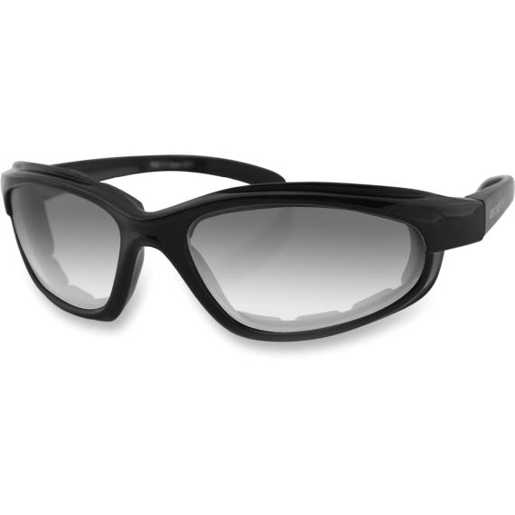 Bobster Fat Boy Sunglasses - Gloss Black - Clear Photochromic