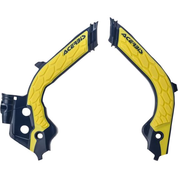 Acerbis X-Grip Frame Guards - Husqvarna - Yellow/Black