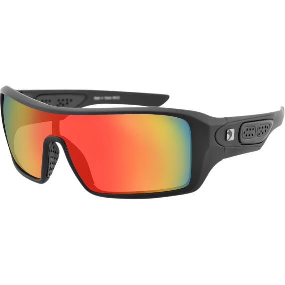 Bobster Paragon Sunglasses - Matte Black - Red
