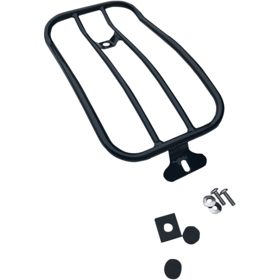 Motherwell Luggage Rack - Gloss Black - FLSL
