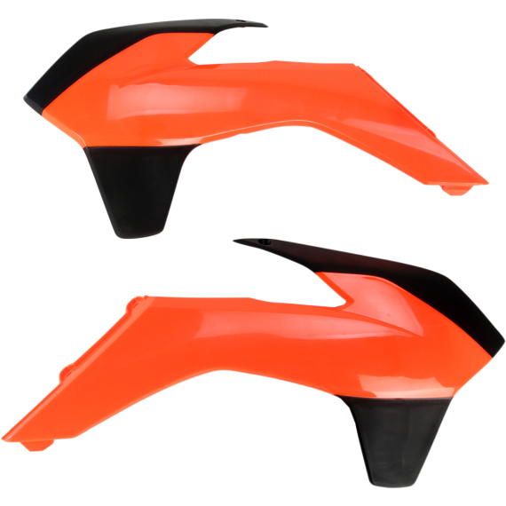 Acerbis Radiator Shrouds - KTM - Fluorescent Orange/Black