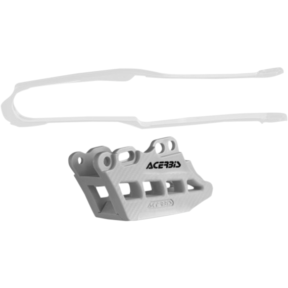 Acerbis Chain Guide 2.0 and Slider Kit - Honda CRF450R - White