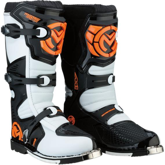 Moose Racing M1.3 MX Boots - Orange/White - Size 14