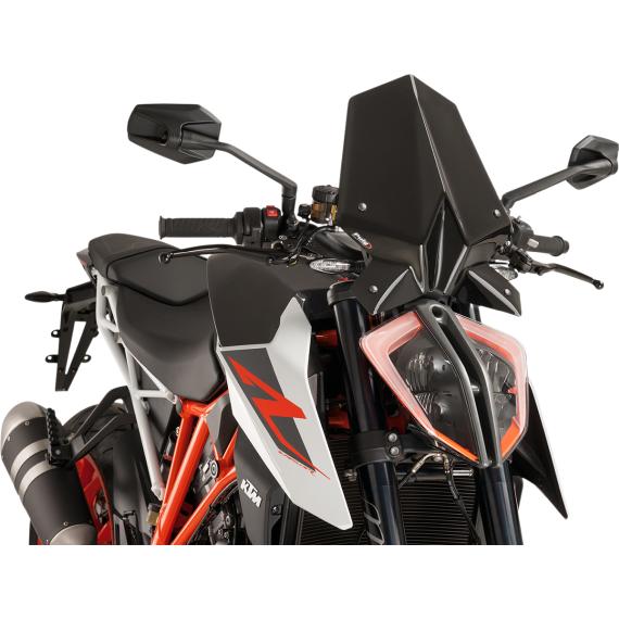 PUIG New Generation Windscreen - Black - KTM