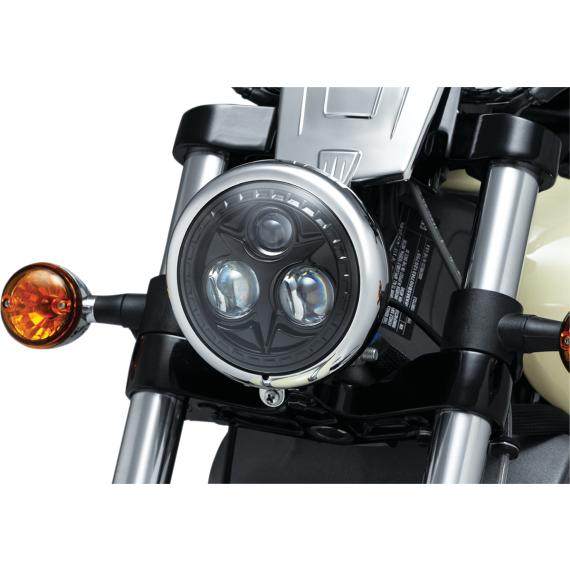 """Kuryakyn 5.75"""" Orbit Headlight - Black"""
