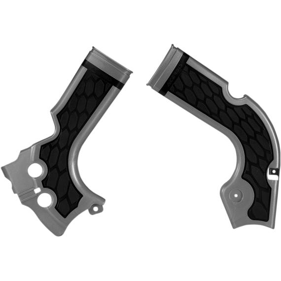 Acerbis X-Grip Frame Guards - CRF - Silver/Black