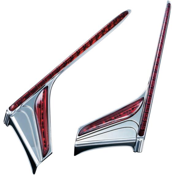 Kuryakyn Vertical Accent Strips - Chrome