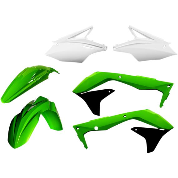 Acerbis Plastic Body Kit - OE '16 Green/White/Black - KX450F