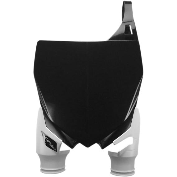 Acerbis Raptor Number Plate - Black/White - Yamaha