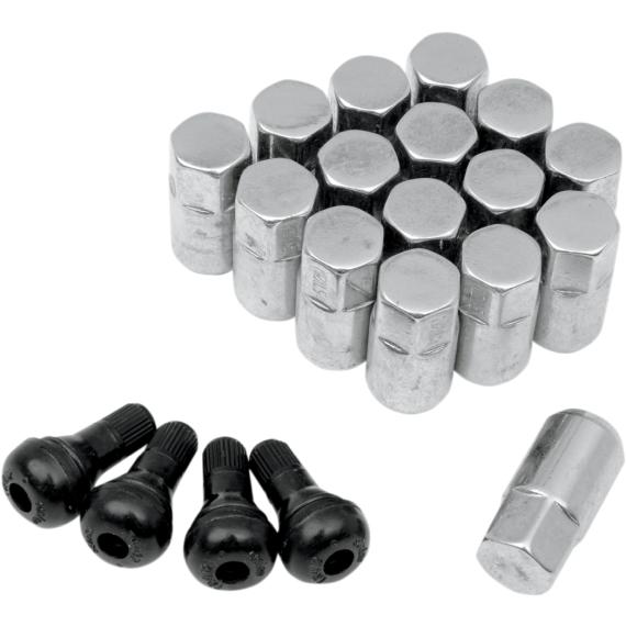 Moose Racing Lug Nut - 12 mm X 1.50 - Chrome - 16 Pack