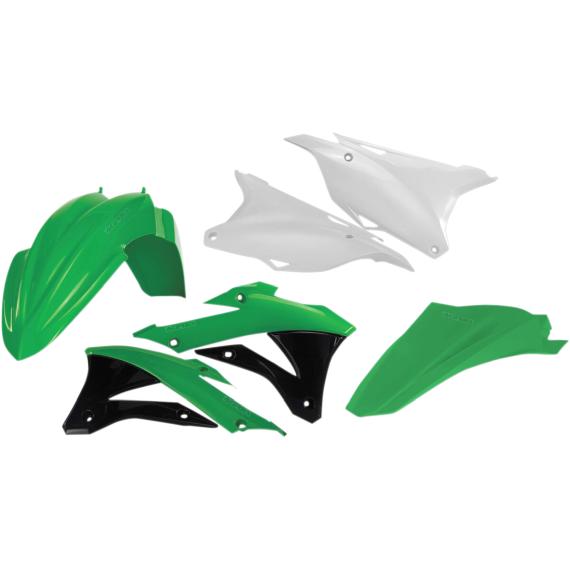 Acerbis Plastic Body Kit - OE '16-'18 Green/White/Black - KX85/100