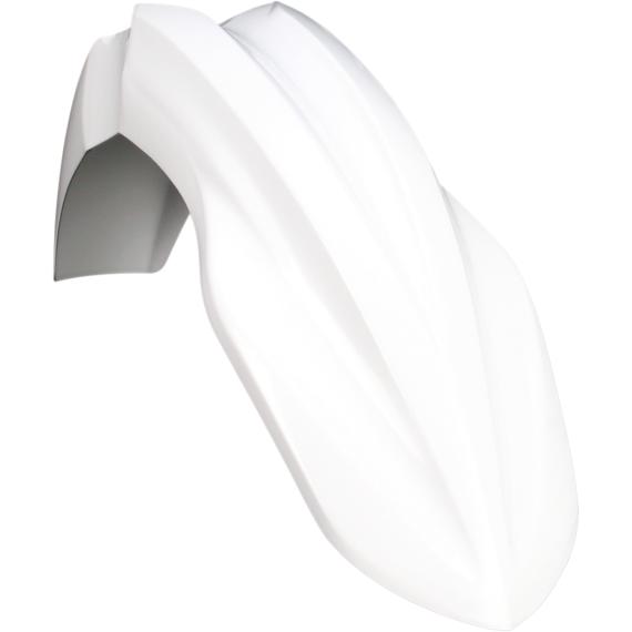 Acerbis Plastic Front Fender - White - KX250/450F