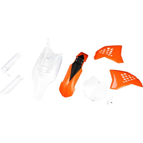 Acerbis Full Replacement Plastic Kit - '12 OE Orange/Black/White - SX65