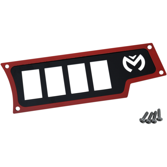 Moose Racing Dash Plate - Right - Red - RZR
