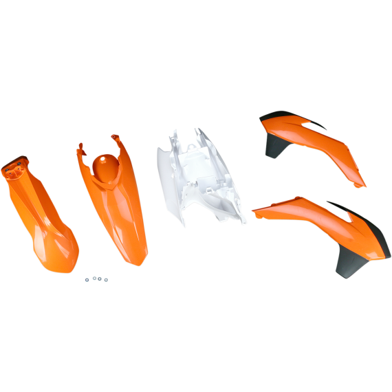 Acerbis Plastic Body Kit - Black/Orange/White - KTM - '13