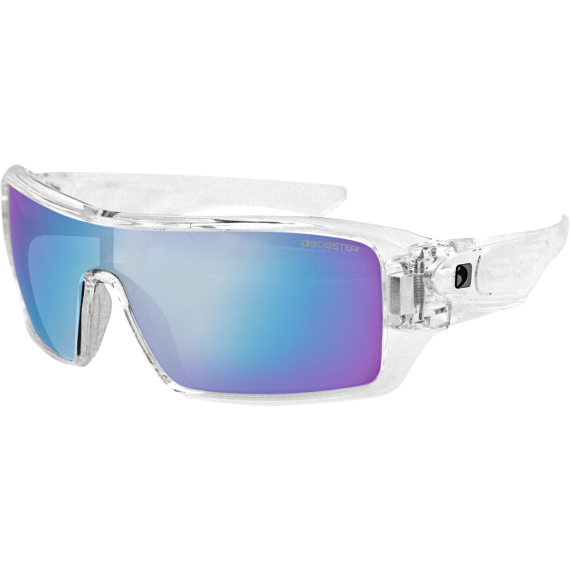 Bobster Paragon Sunglasses - Gloss Clear - Blue Mirror