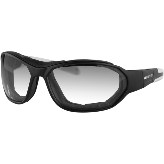 Bobster Force Convertible Sunglasses - Matte Black - Clear Photochromic