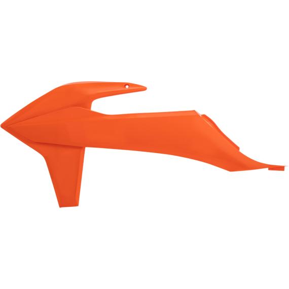 Acerbis Radiator Shrouds - Orange '16/Black