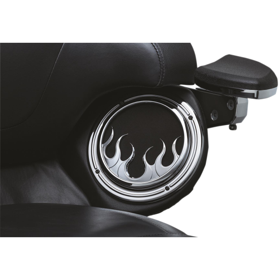 Kuryakyn Front Speaker Accents - Flame