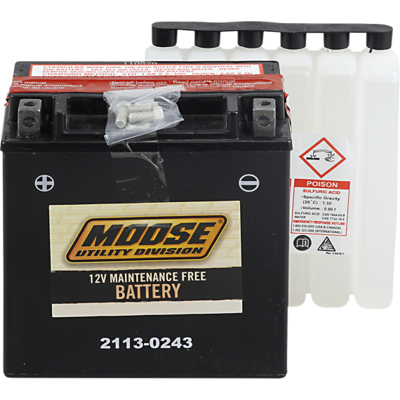 Moose Racing AGM Battery - YTX20CH-BS
