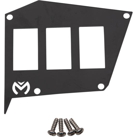 Moose Racing Dash Plate - Black - RZR