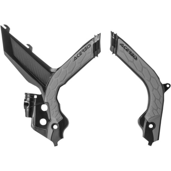 Acerbis X-Grip Frame Guards - KTM - Black/Silver