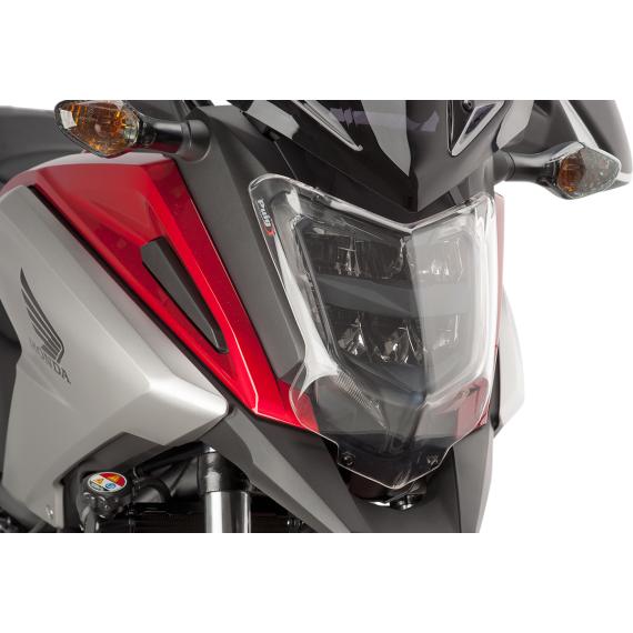 PUIG Protective Headlight Cover - Honda - Clear