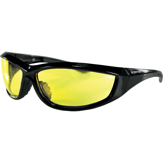 Bobster Charger Sunglasses  - Charger Sunglasses - Gloss Black - Yellow