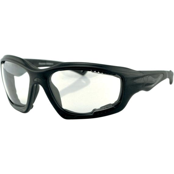 Bobster Desperado Sunglasses - Gloss Black - Clear